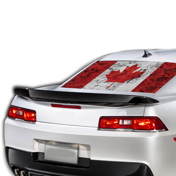 Canada Flag Perforated for Chevrolet Camaro decal 2015 - Present
