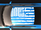 Roof Banner American Flag Style Decal Dodge Charger US Flag Sticker