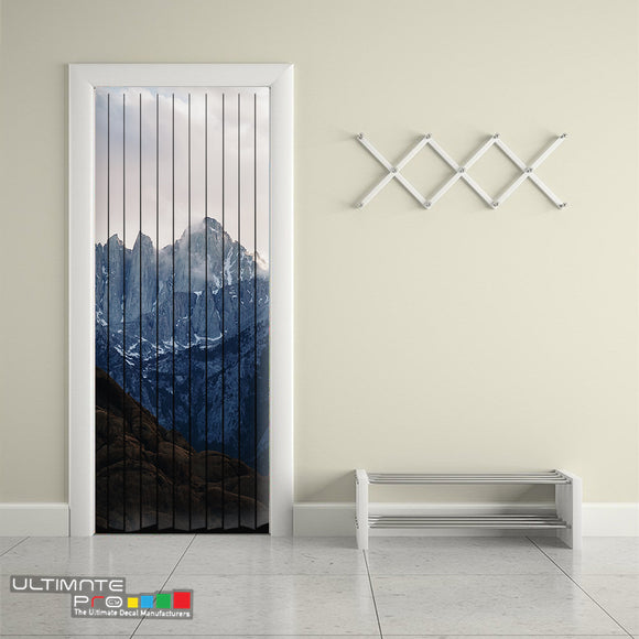 Door Curtain ideas for Decoration Mountains 9 Curtain printed Design