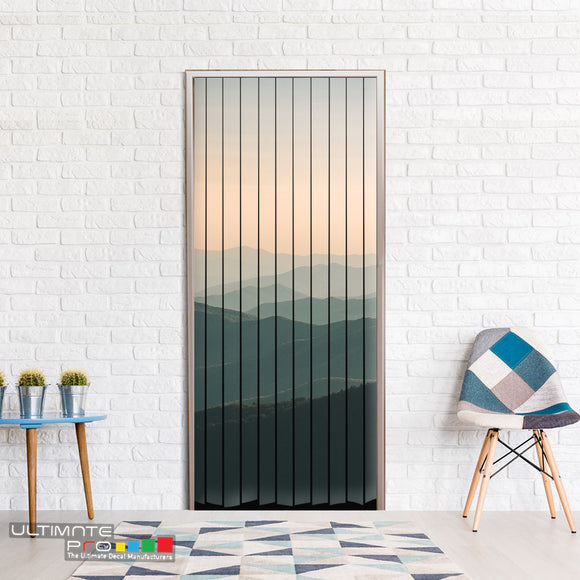 Door ideas Curtain mountains 1 Curtain printed
