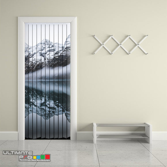 Door Curtain ideas for Decoration Mountains 6 Curtain printed Design