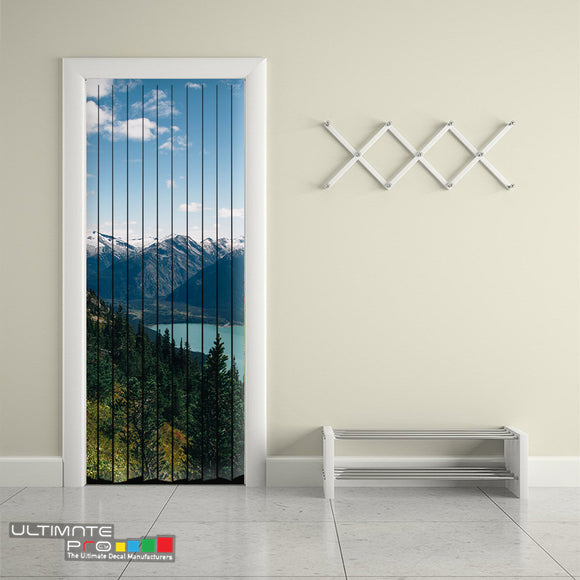 Door Curtain ideas for Decoration Mountains 7 Curtain printed Design