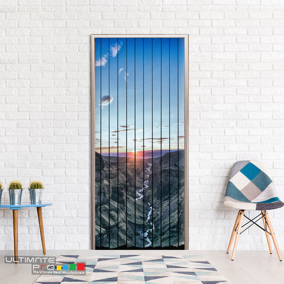 Door Curtain ideas for Decoration Mountains 4 Curtain printed Design
