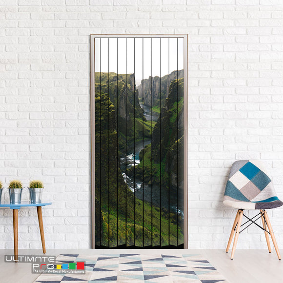 Door Curtain ideas for Decoration Mountains 5 Curtain printed Design
