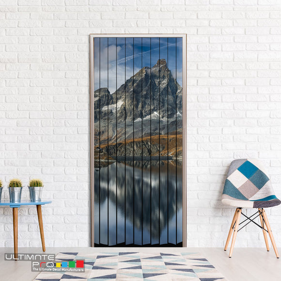 Door Curtain for Decoration Mountains Curtain printed Design