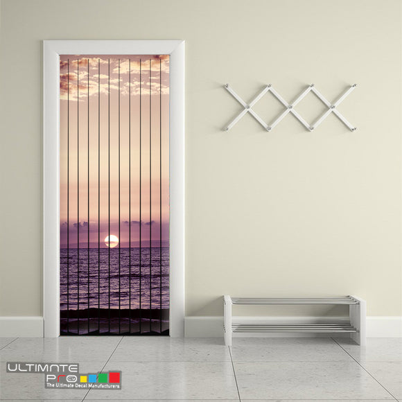 Door Curtain Designs sunrise 1 Curtain printed