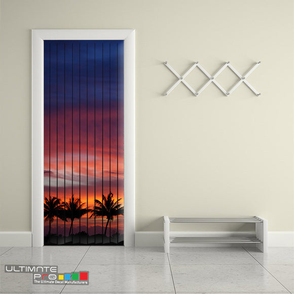 Door Curtain Designs sunrise 2 Curtain printed