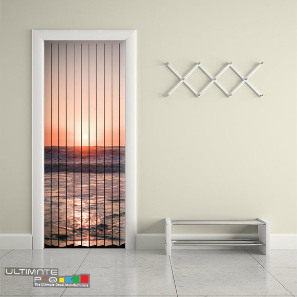 Door Curtain Designs sunrise 3 Curtain printed