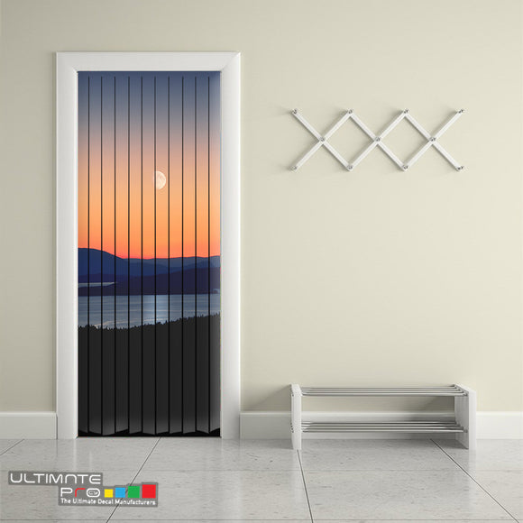 Door Curtain Designs sunrise Curtain printed