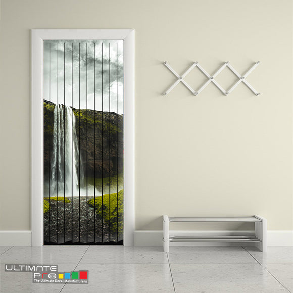 Door Curtain Designs waterfall Curtain printed