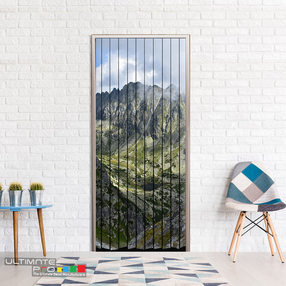 Door ideas Curtain mountains Curtain printed