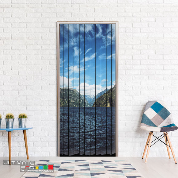 Door ideas Curtain mountain 1 Curtain printed