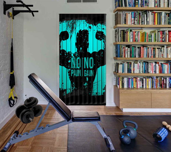 Modern door decoration Gym 18 Door Curtain printed Design hanging