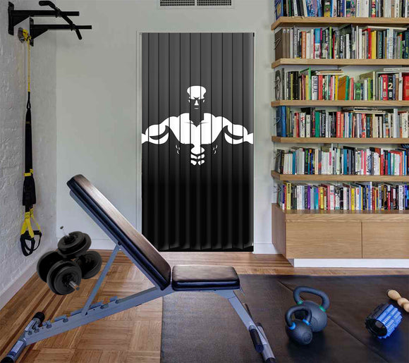 Door Curtain Designs gym Curtain printed