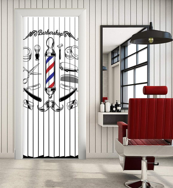 Door Curtain Designs barber Curtain printed