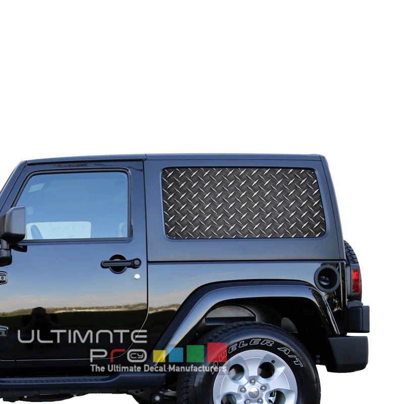 Rear Window Iron Metal Perforated for Jeep Wrangler JL, JK decal 2007 - Present