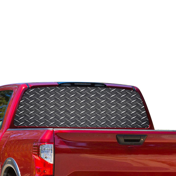 Iron Metal Perforated for Nissan Titan decal 2012 - Present