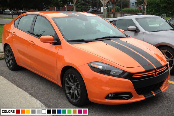 Front to back Stripe Kit Decal For Dodge Dart 2015 - Present