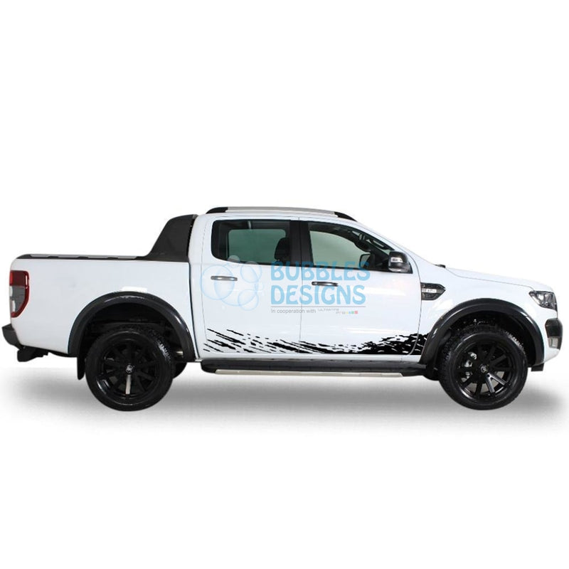 Decal Design For Ford Ranger Double Cab 2011 - Present Black