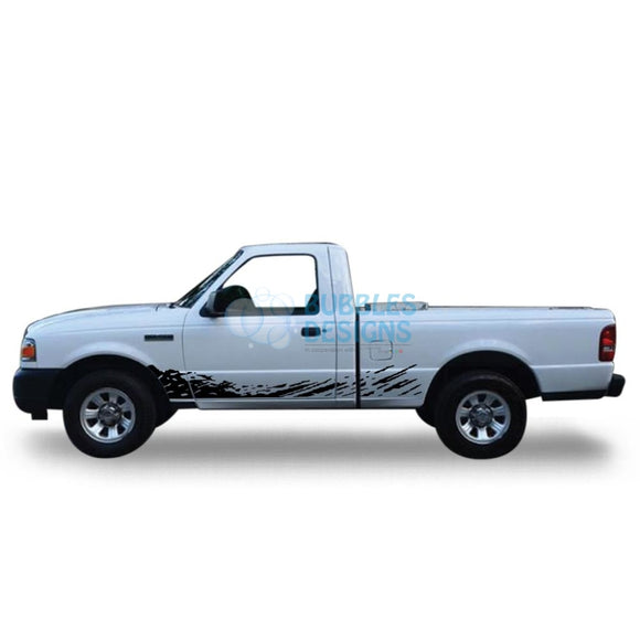 Decal Design For Ford Ranger Regular Cab 1998 - 2012 Black