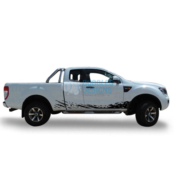 Decal Design For Ford Ranger Super Cab 2011 - Present Black