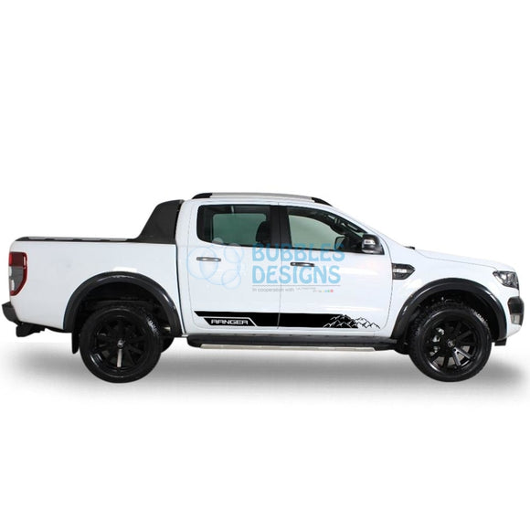 Decal For Ford Ranger Double Cab 2011 - Present Black