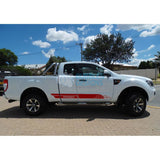 Decal For Ford Ranger Super Cab 2011 - Present Red