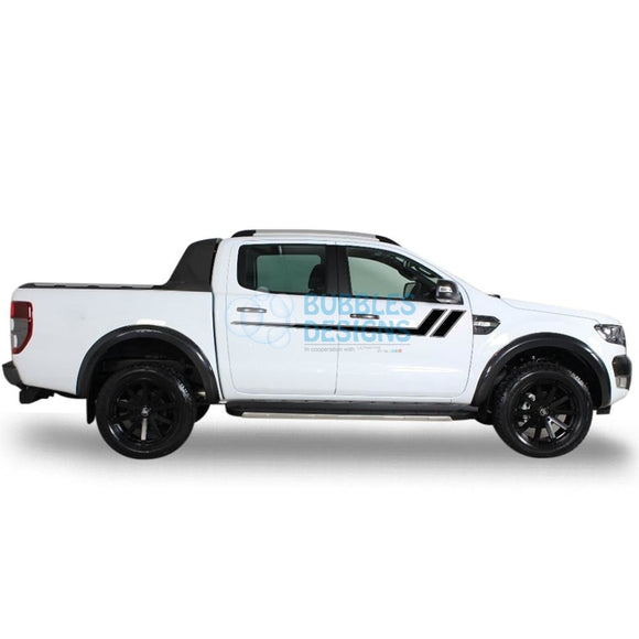 Decal Vinyl Design For Ford Ranger Double Cab 2011 - Present Black