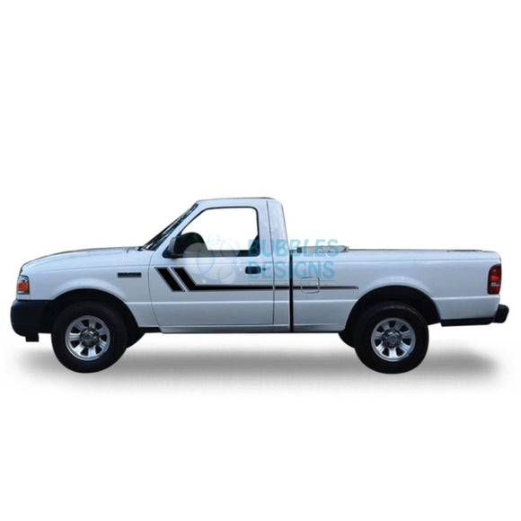 Decal Vinyl Design For Ford Ranger Regular Cab 1998 - 2012 Black