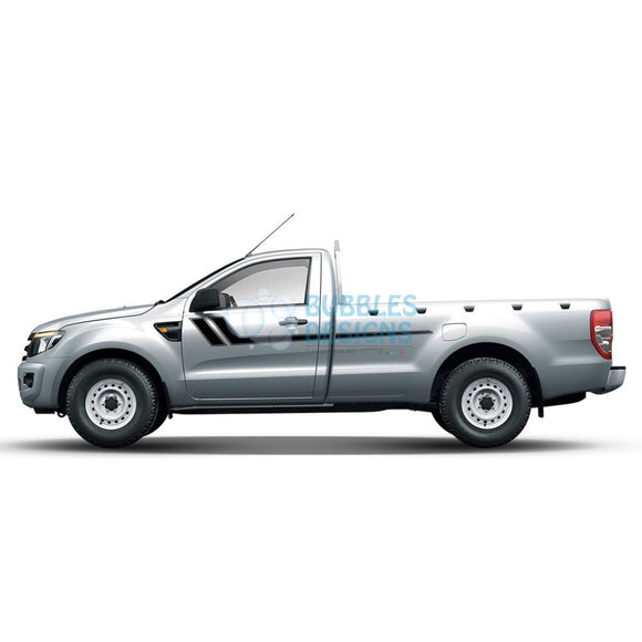 Decal Vinyl Design For Ford Ranger Regular Cab 2011 - Present Black