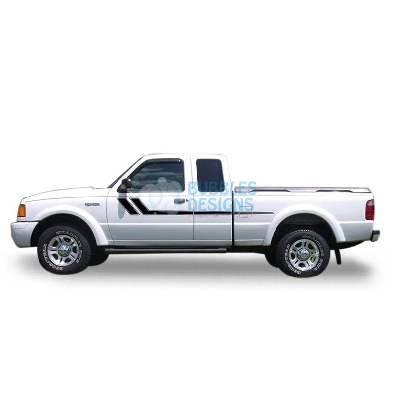 Decal Vinyl Design For Ford Ranger Super Cab 1998-2012 Black