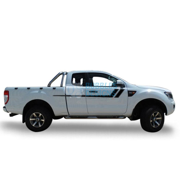Decal Vinyl Design For Ford Ranger Super Cab 2011 - Present Black