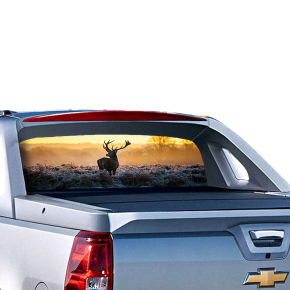 Deer 1 Perforated for Chevrolet Avalanche decal 2015 - Present
