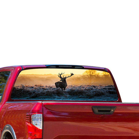 Deer 1 Perforated for Nissan Titan decal 2012 - Present