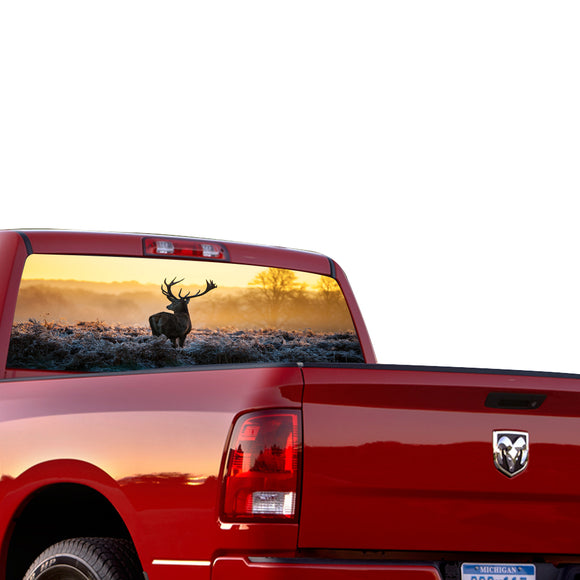 Deer 1 Perforated for Dodge Ram decal 2015 - Present