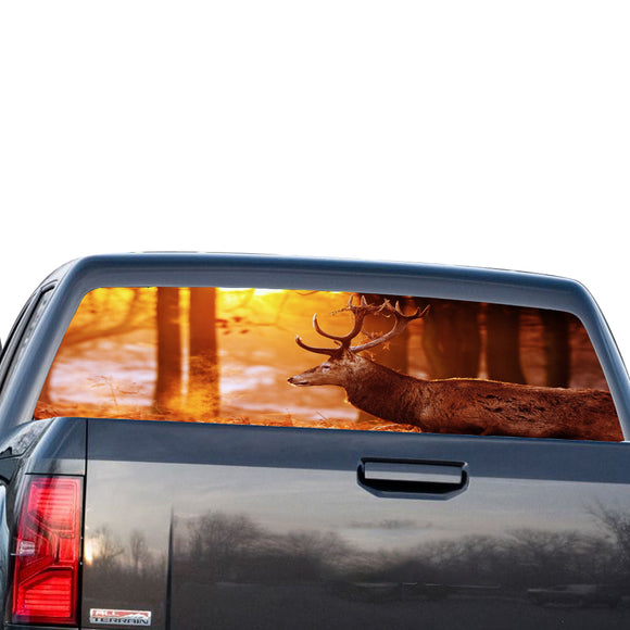 Deer 3 Perforated for GMC Sierra decal 2014 - Present