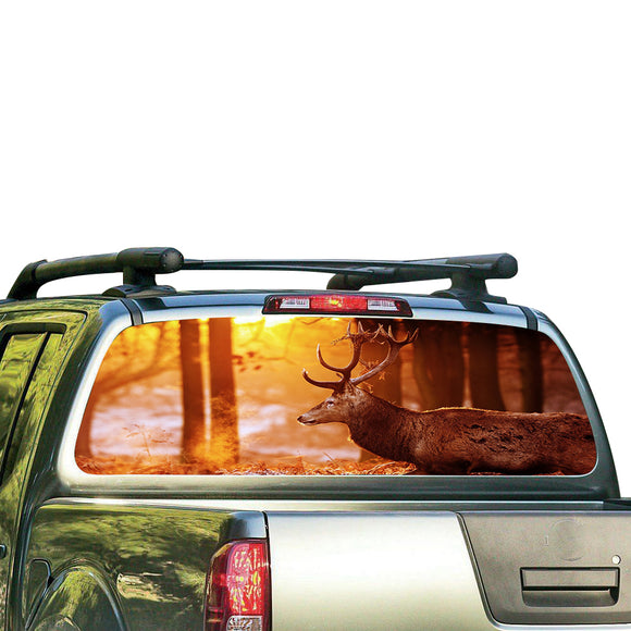 Deer 1 Perforated for Nissan Frontier decal 2004 - Present