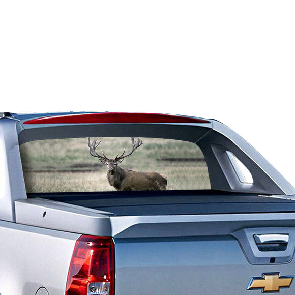 Deer 2 Perforated for Chevrolet Avalanche decal 2015 - Present