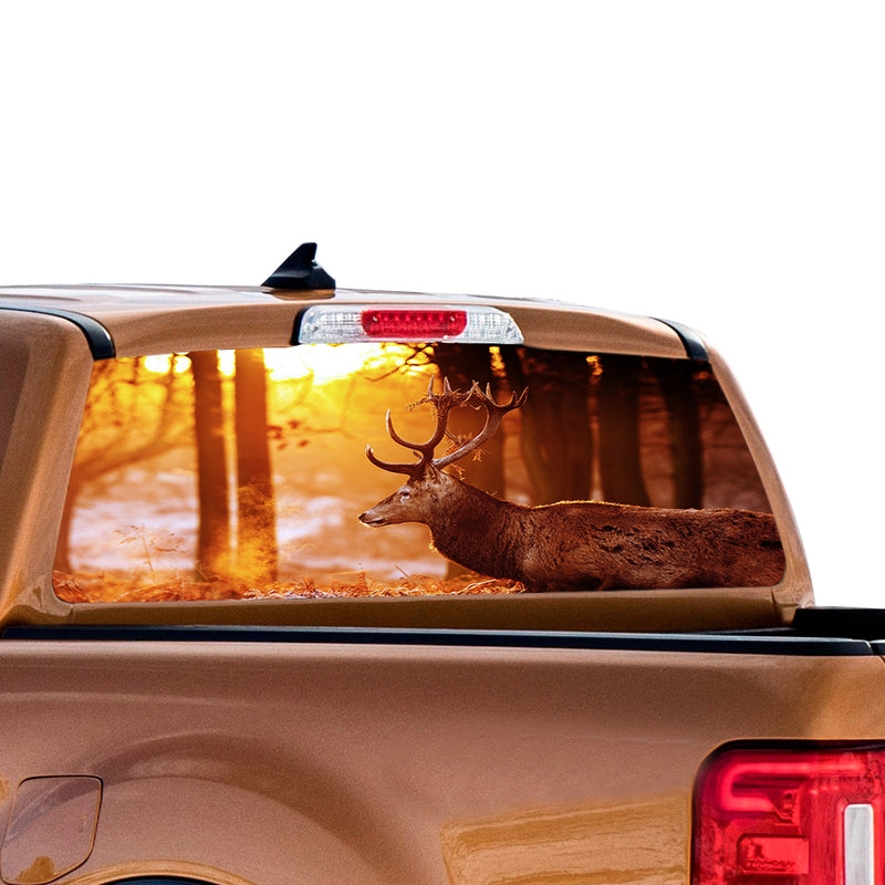 Wild Deer 1 Perforated for Ford Ranger decal 2010 - Present