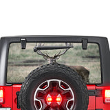 Deer 2 Perforated for Jeep Wrangler JL, JK decal 2007 - Present
