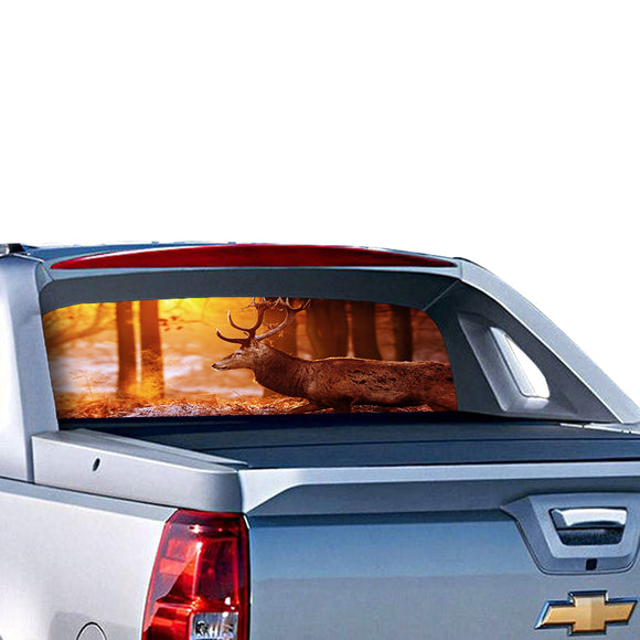Deer 3 Perforated for Chevrolet Avalanche decal 2015 - Present