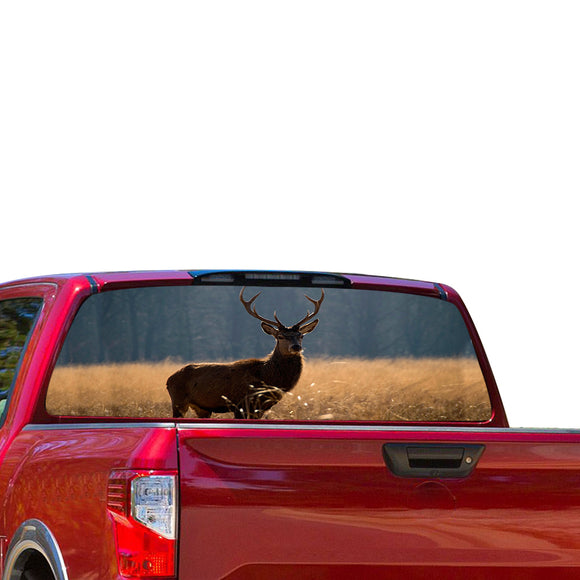 Deer Perforated for Nissan Titan decal 2012 - Present