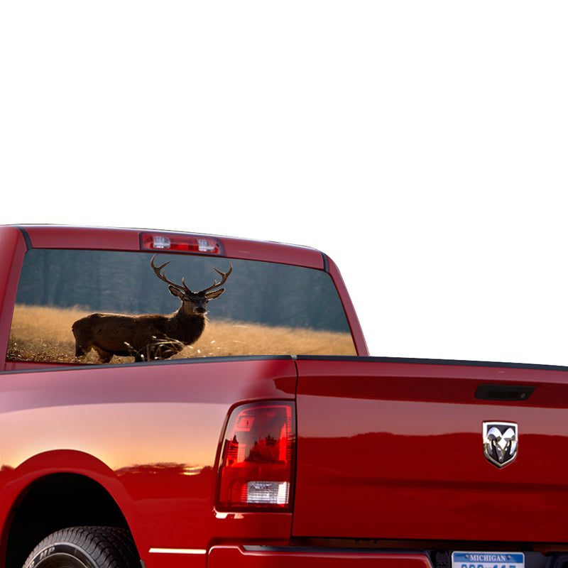 Deer Perforated for Dodge Ram decal 2015 - Present