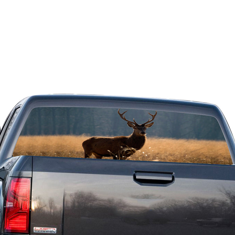 Deer 1 Perforated for GMC Sierra decal 2014 - Present