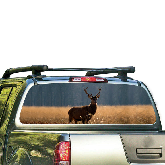 Animal Deer Perforated for Nissan Frontier decal 2004 - Present