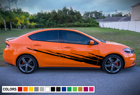 Side Door Stripe Kit pattern Decal For Dodge Dart 2015 - Present