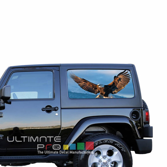 Rear Window Eagle 1 Perforated for Jeep Wrangler JL, JK decal 2007 - Present