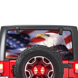 USA Eagle Perforated for Jeep Wrangler JL, JK decal 2007 - Present
