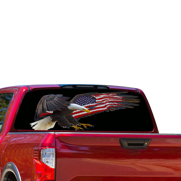 USA Eagle 1 Perforated for Nissan Titan decal 2012 - Present
