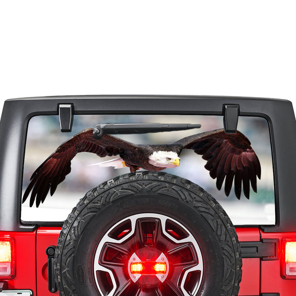 Eagle Perforated for Jeep Wrangler JL, JK decal 2007 - Present